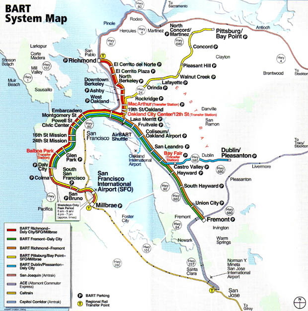 Caltrain Map on