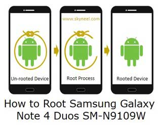 How to Root Samsung Galaxy Note 4 Duos SM-N9109W