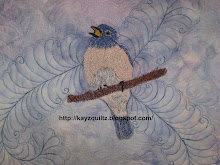My Thread Painted Bluebird