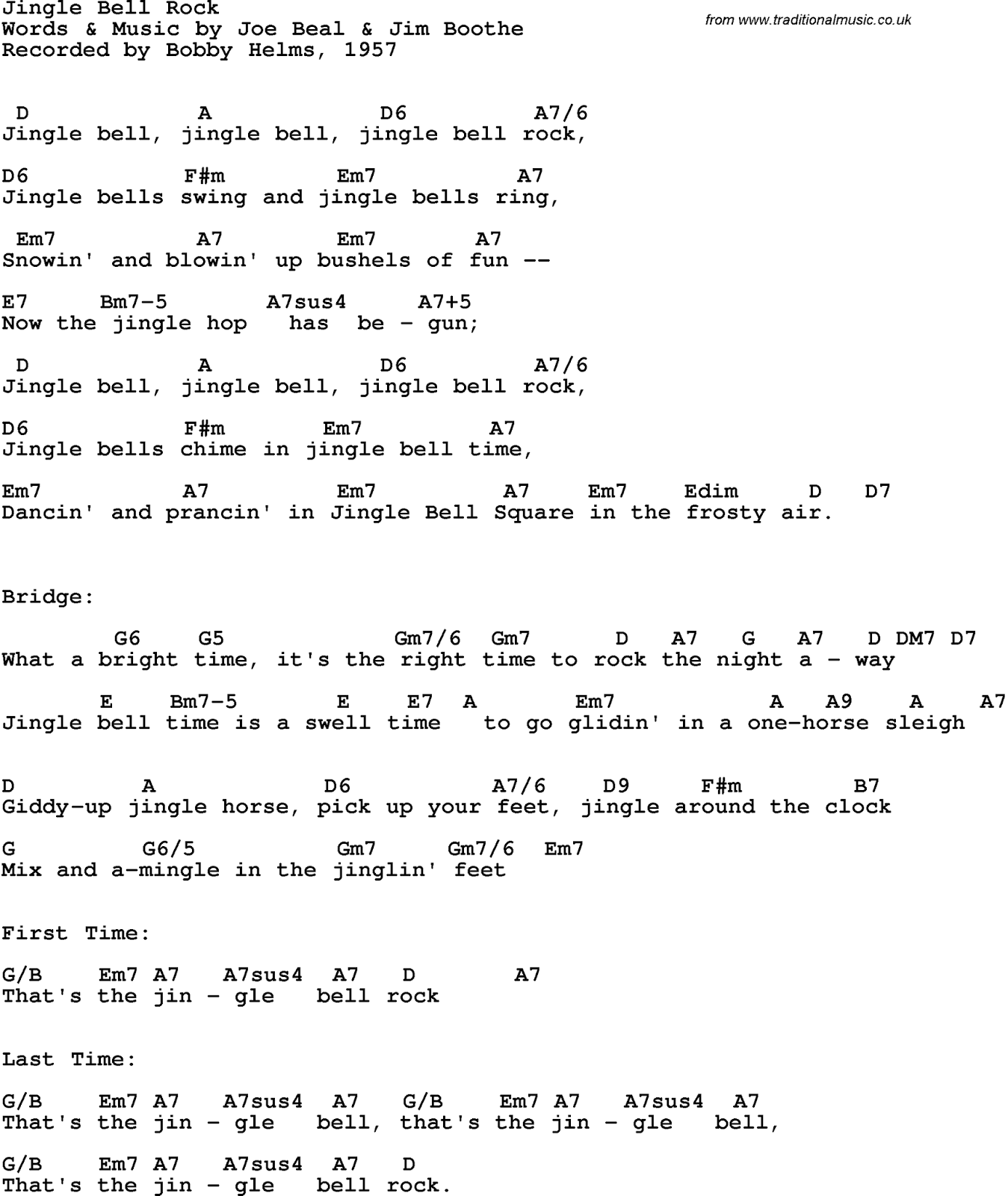 5 Jingle Bells Guitar Chords Easy
