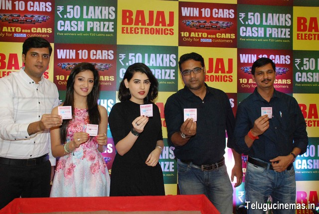 Bajaj Electronics 50 lakhs Cash Draw at Forum Mall -Photos,Kukatpally Bajaj Electronics 50 lakhs cash draw winners,Archana and Richa at Bajaj Electronics 50 Lakhs.