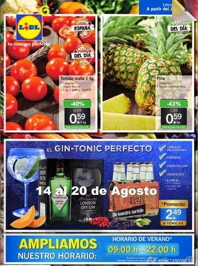 catalogo lidl ofertas del 14-8-2014