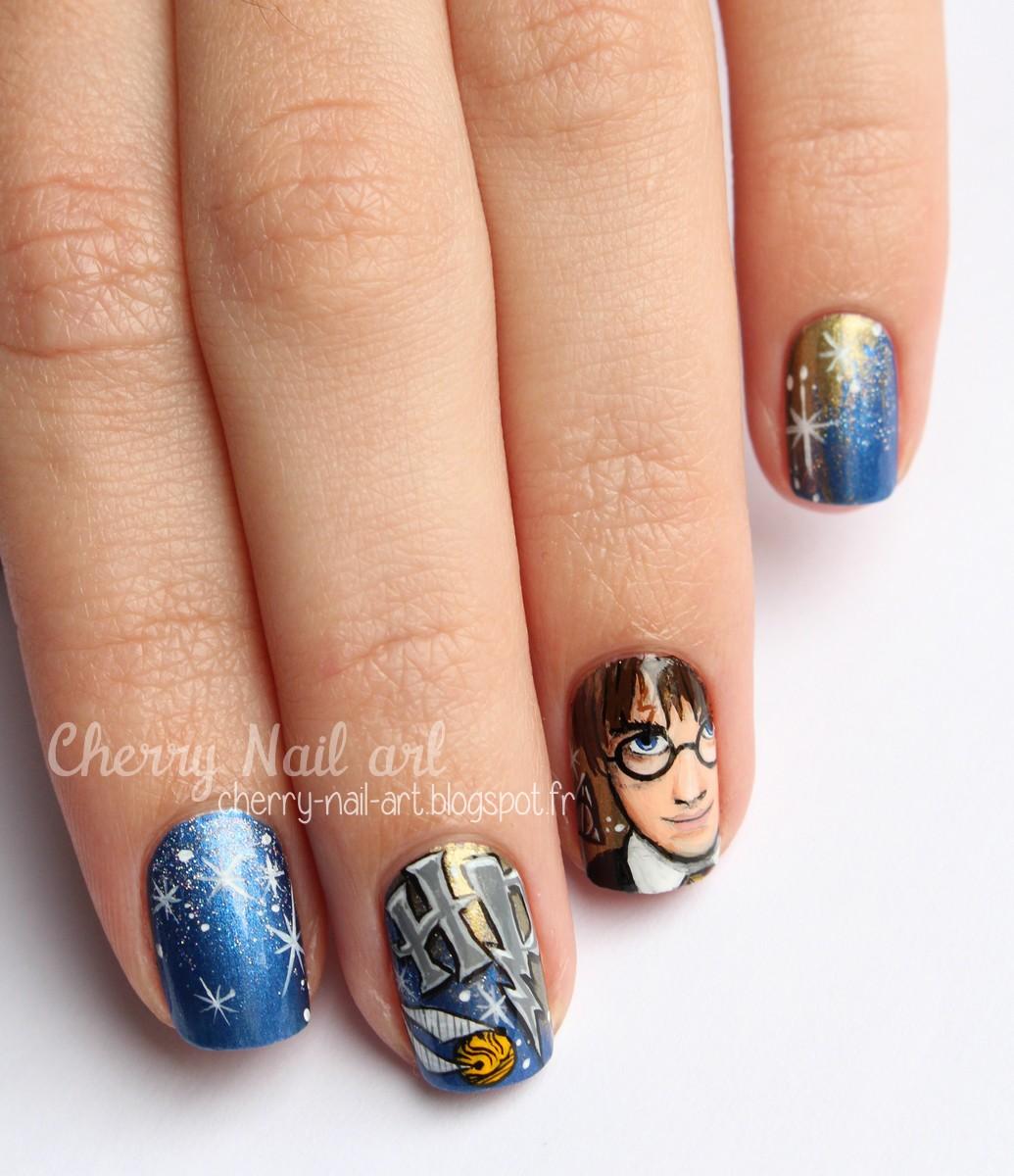 Nail art Harry Potter
