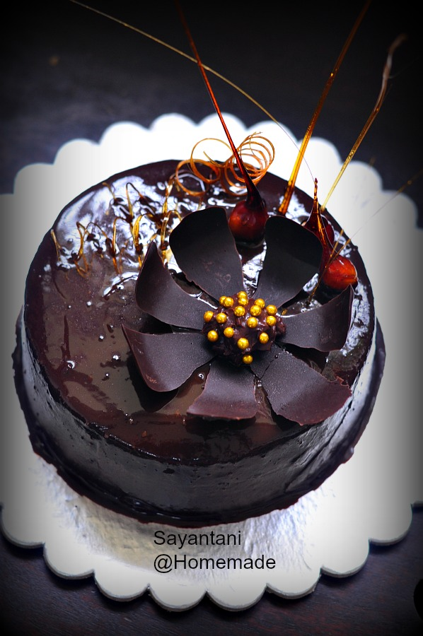 Decoration Of Chocolate Truffle Cake : Few Recent Cakes - A Homemaker s Diary