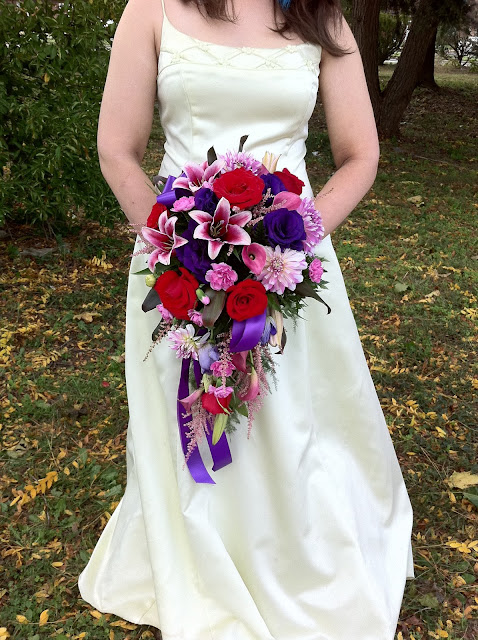 Rich and Romantic Bridal Bouquet by Stein Your Florist Co.