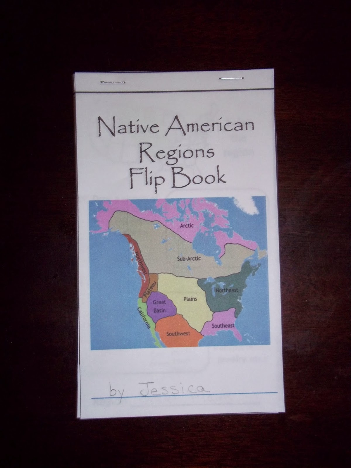 My Clever Endeavors Native American Regions Flip Book DONE