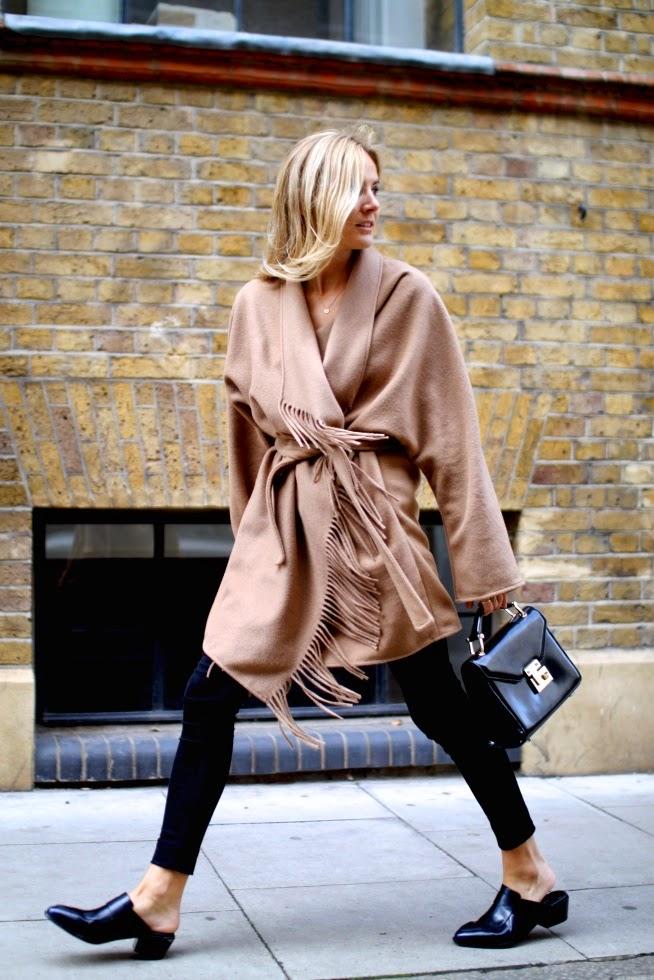 H&m Camel Fringed Jacket