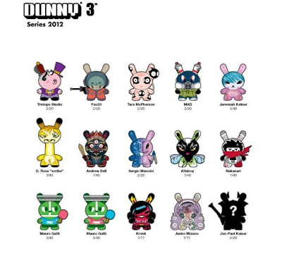 Dunny Series 2012 Checklist and Ratios