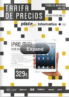 tarifa de precios Pista cero 25-2013