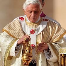 Pope Benedict XVI in fanon