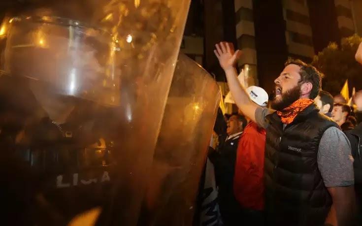 Ισημερινός: Άγριες διαδηλώσεις για εκλογική νοθεία στη χώρα ! μονο στην Ελλάδα δεν κουνήθηκε φύλλο!