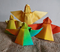 Origami angels