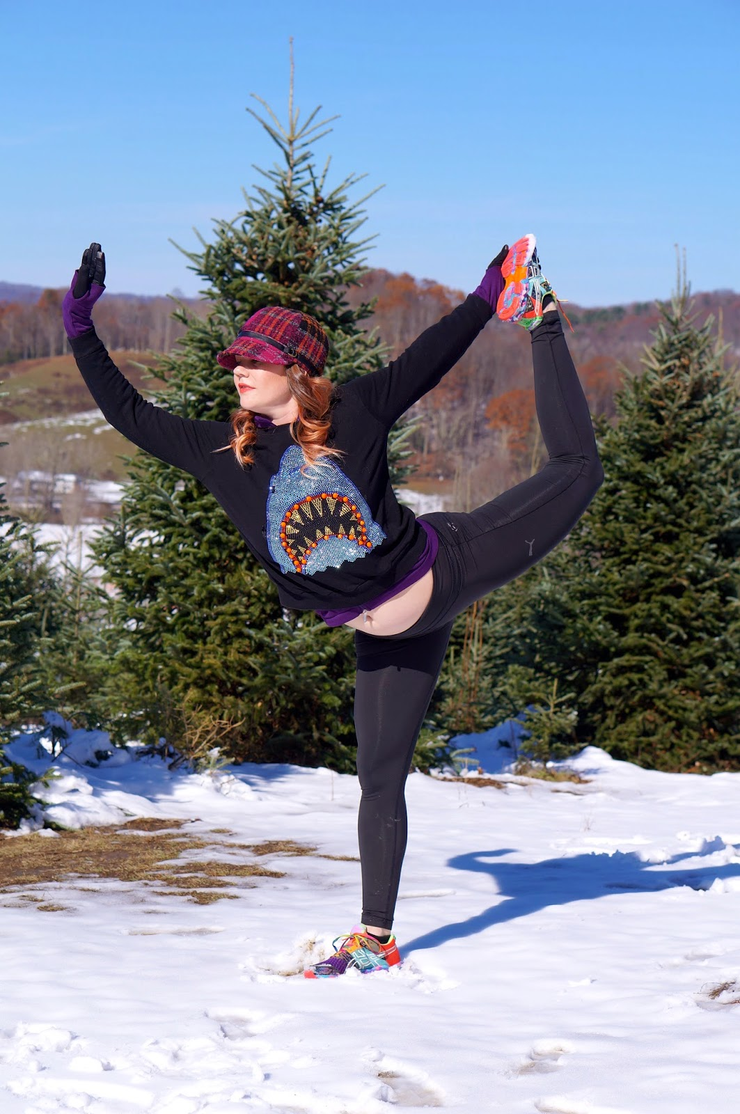 The Virginia Creeper Trail,Pumpkin Patch,Christmas Tree Farm,Biking,National Forest,Snow,yoga,dancers pose,head stand pose.