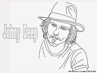 Mewarnai Gambar Johnny Depp