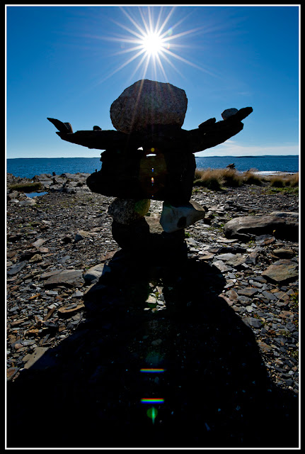 Nova Scotia. Gaff Point; Inuksuk
