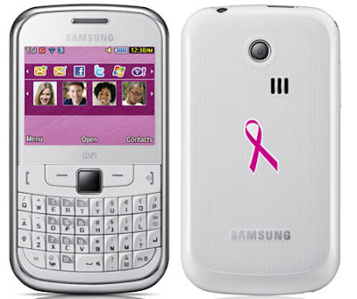Samsung Galaxy S Plus And Chat 335 Pink Ribbon