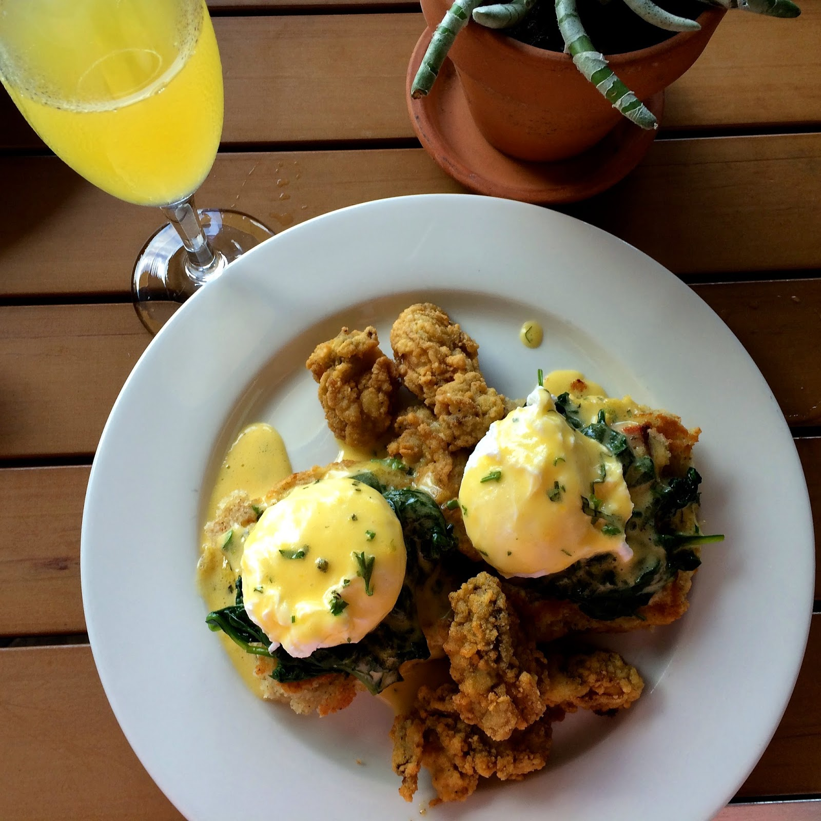 Fried Gulf Oysters Benedict