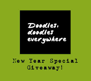 Ongoing International Giveaway on Doodles, doodles everywhere!