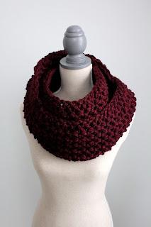 Vivienne Burgundy infinity scarf