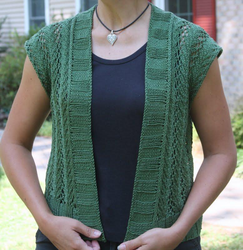 stitching under oaks: vine lace vest