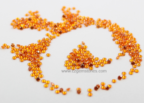 loose cubic zirconia orange stones