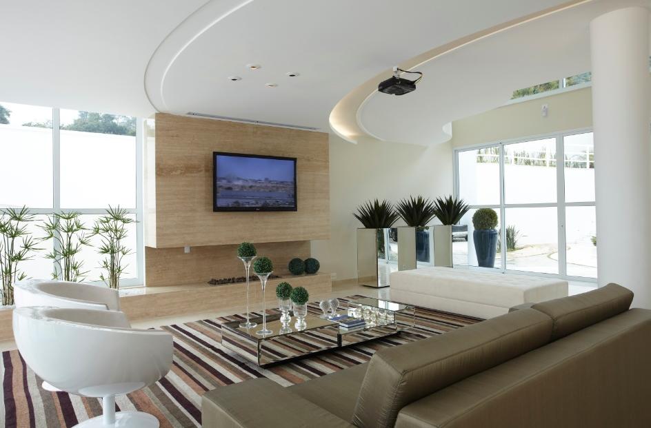 Lareira Para Sala Pequena ~ 20 Salas de tv com lareira – tendência do momento! Veja modelos e