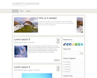 Numerto MagazineBlogger Templates