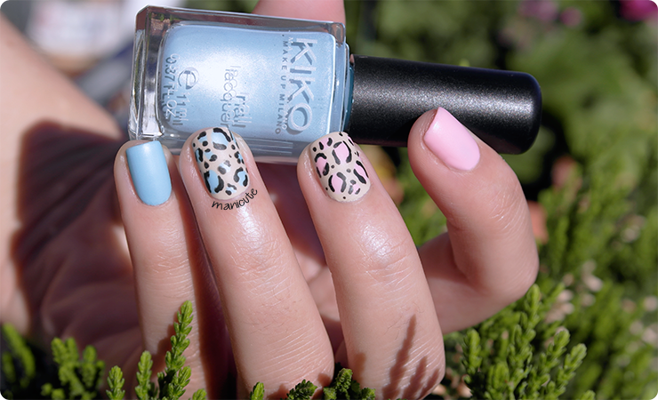 animal print nail art Essence satin matt review