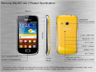 Harga Samsung Galaxy Mini 2 Spesifikasi
