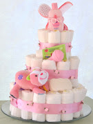 . at a time, but I think they look pretty cool when they're totally flat . (baby girl diaper cake)