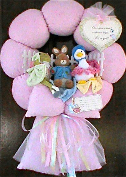 "96. Custom ""Peter Rabbit"" Baby wreath"