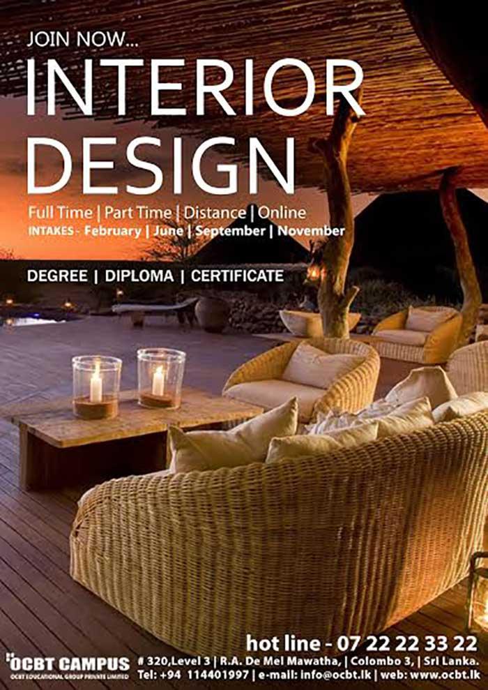 Study Interior Design at OCBT - Register Now.
