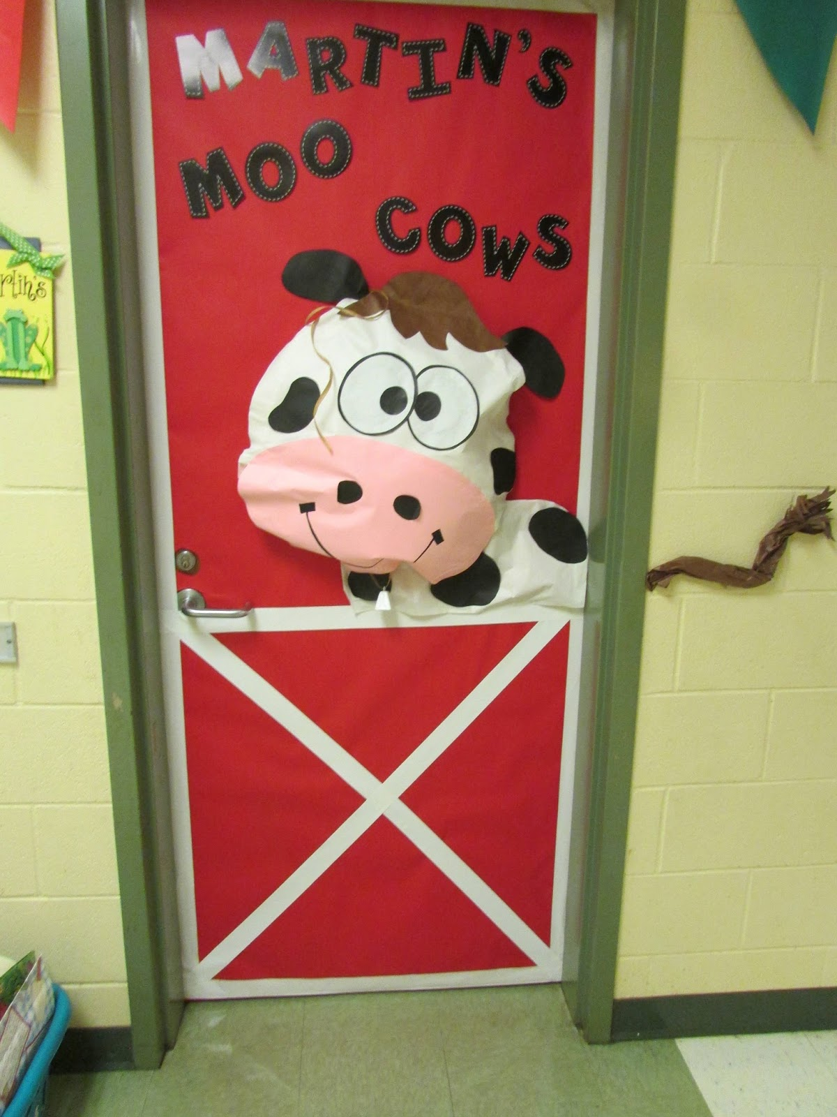 The monster and the farm peace love and first grade for Farm door ideas