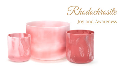 Rhodochrosite Alchemy Crystal Singing Bowls