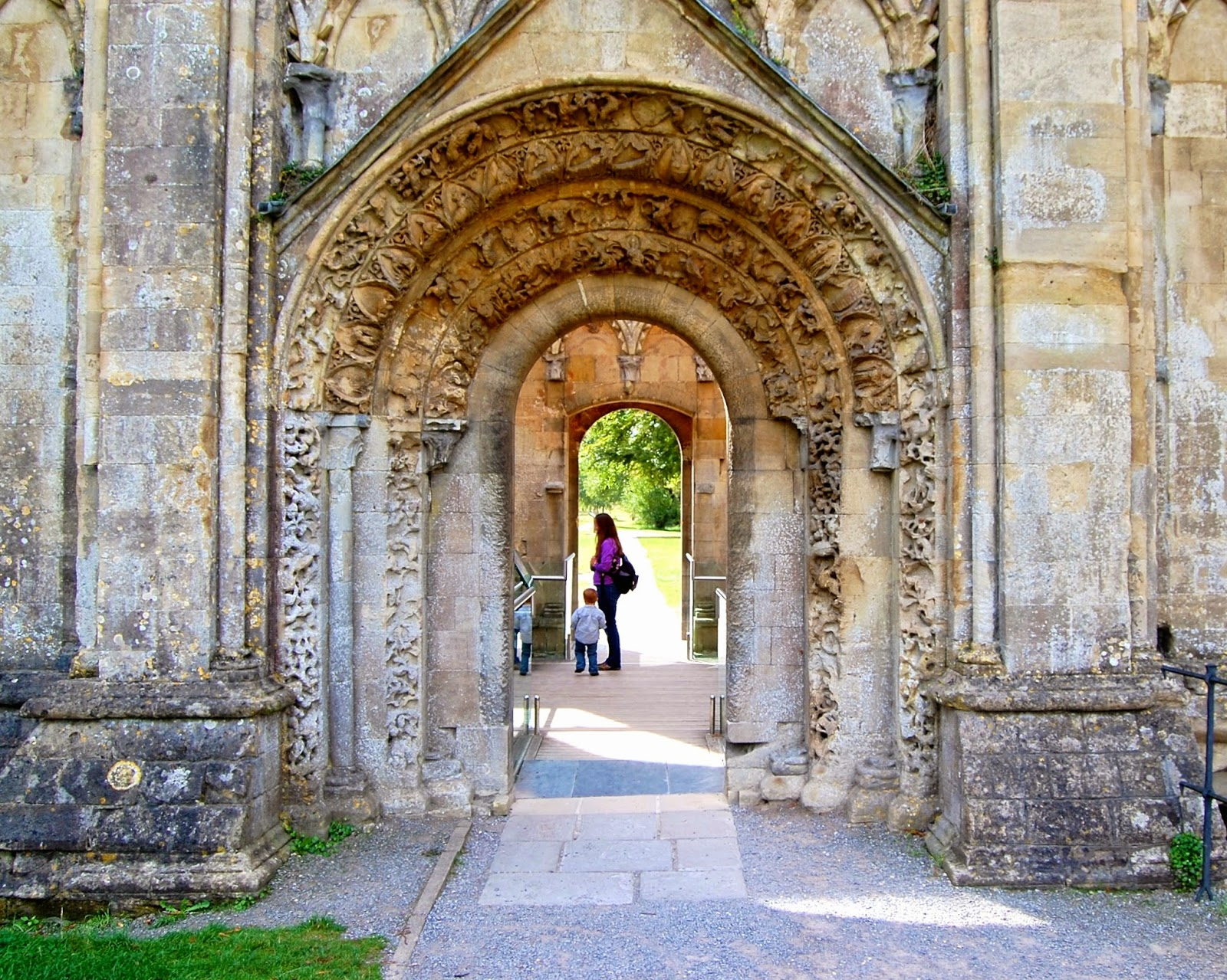 Archivolt on the Lady Chapel of Glastonbury Abbey