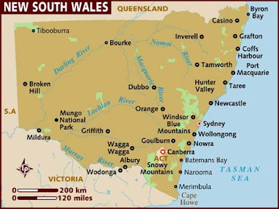 New South Wales Picture Map