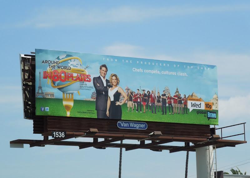 Around World 80 Plates billboard