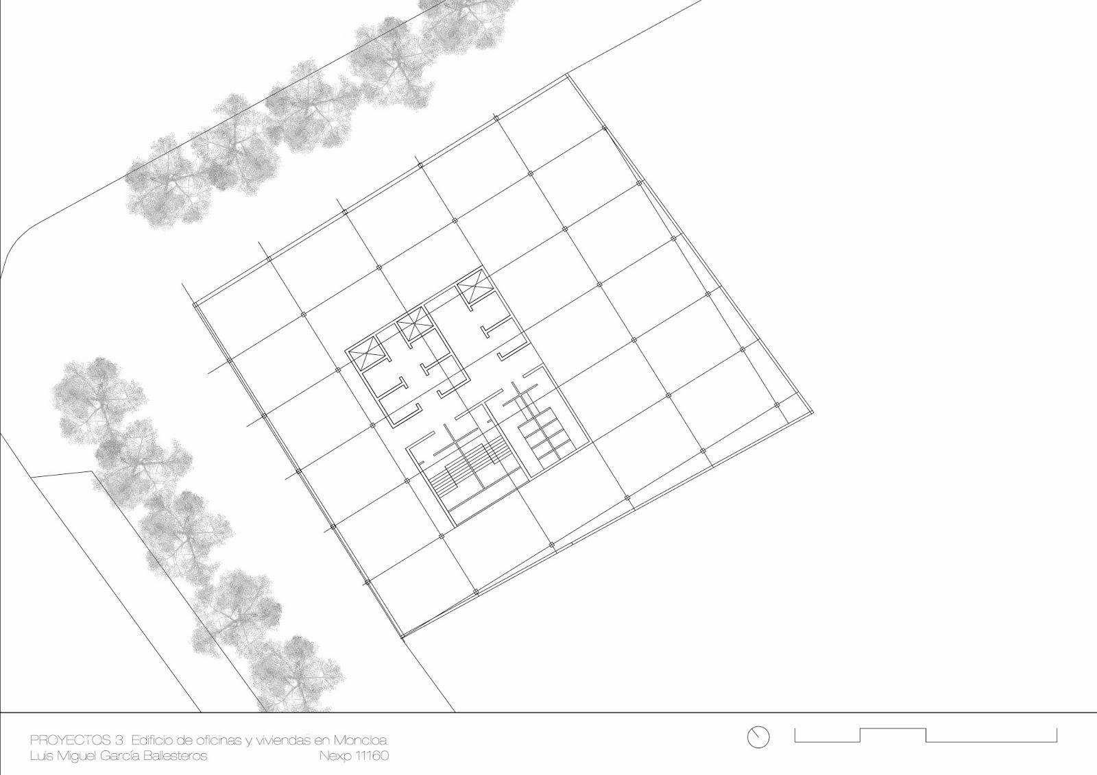 Proyectos 3 etsam for Oficinas en moncloa