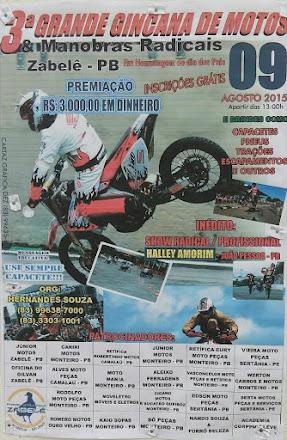 Gincana de motos em Zabelê