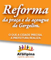 Reforma da praça e do açougue de Gergelim