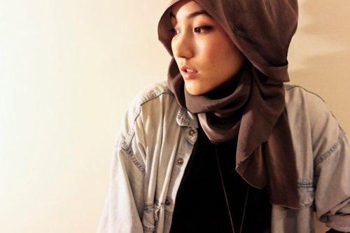Muallaf hana tajima simpson young fashionable Hijab fashion style hana tajima