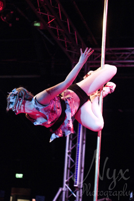 Amateur pole-dancing competition in Perth