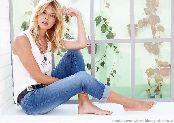 Moda verano 2015 Jeans Zhoue.