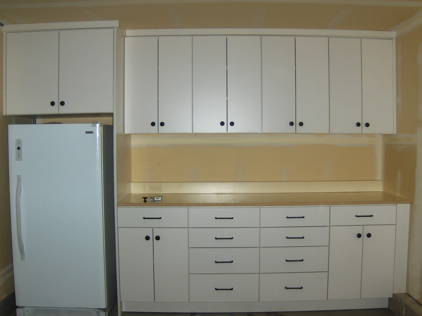 Stone Ridge Cabinets: Garage Cabinets with workbench and freezer space