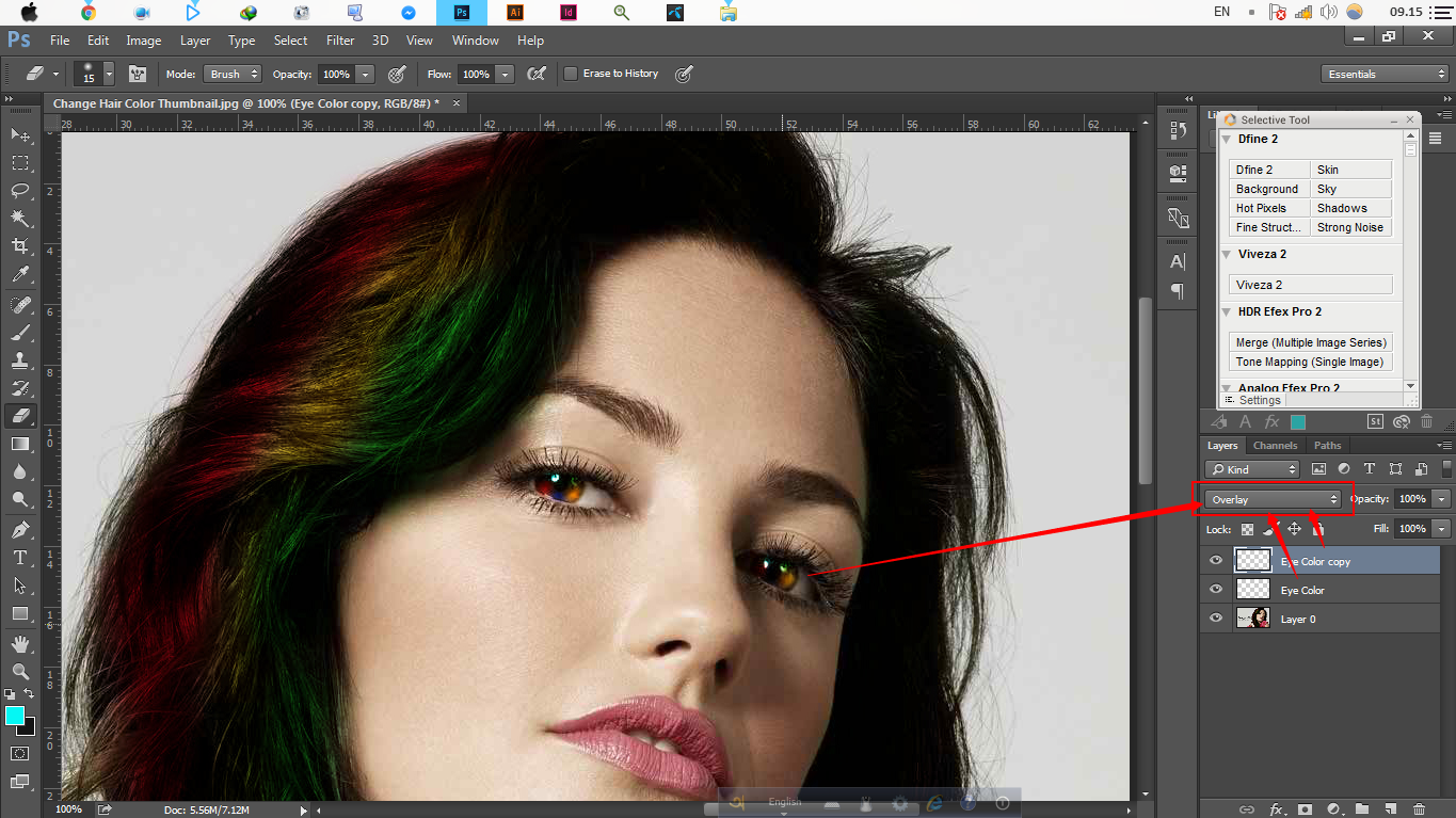 How To Change Hair Amp Eye Color Photoshop Tutorial