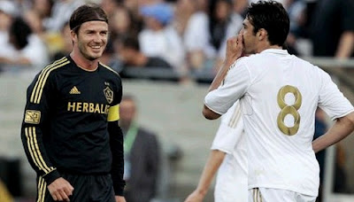 LA Galaxy vs Real Madrid 2011 Beckahm and Kaka