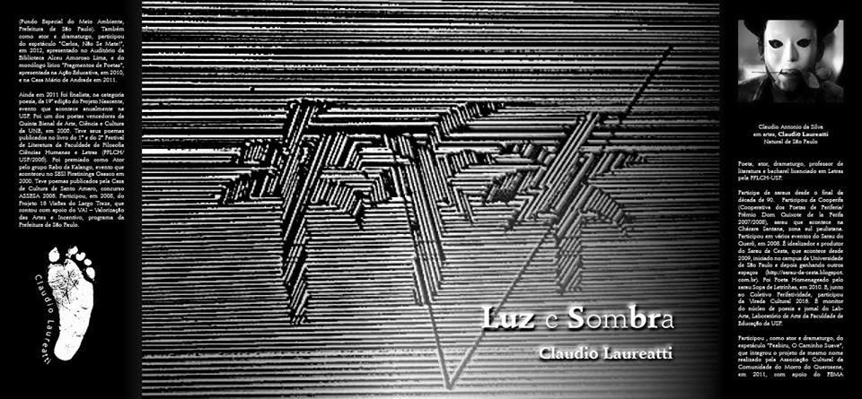 """Livro """"Luz e Sombra"""" de Claudio Laureatti."""