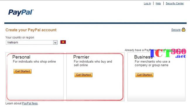 Hướng dẫn đăng ký mở tài khoản Paypal 2014 chi tiết từ a đến z