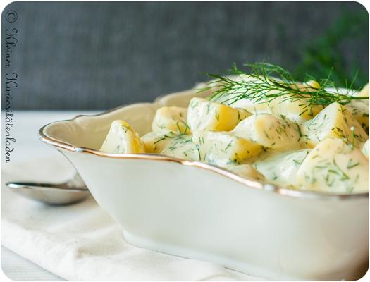 Kartoffeln in Dill-Sahnesauce
