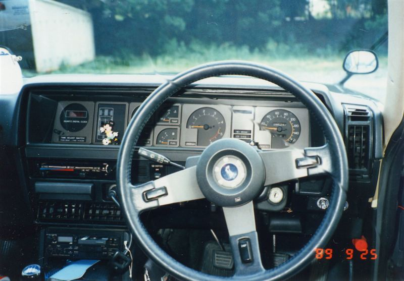 Nissan Skyline, EGC211, C210, 280DGT, Diesel, LD28, JDM, japoński samochód, najszybszy diesel, nostalgic, retro, old, klasyczny, auto, wnętrze, środek, interior, inside, ディーゼルエンジン, 日本車, クラシックカー
